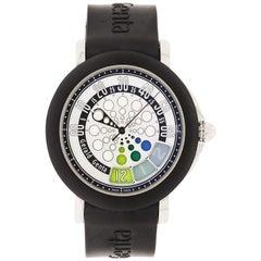 Gerald Genta Retro Sport Stainless Steel Watch and Rubber Strap