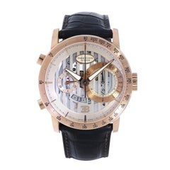 Parmigiani Bugatti Atalante Flyback Chronograph Rose Gold Wristwatch