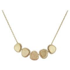 White Diamond 18 Karat Gold Necklace