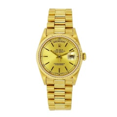 Vintage Rolex Day-Date 18 Karat Yellow Gold