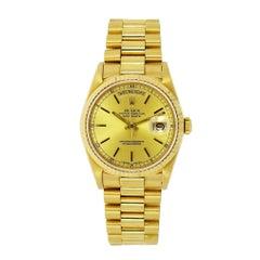 Vintage Rolex Day-Date 18 Karat Yellow Gold
