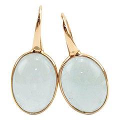 Aquamarine 18 Karat Gold Drop Earring