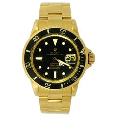 Rolex Submariner 1680, Yellow Gold Black Dial