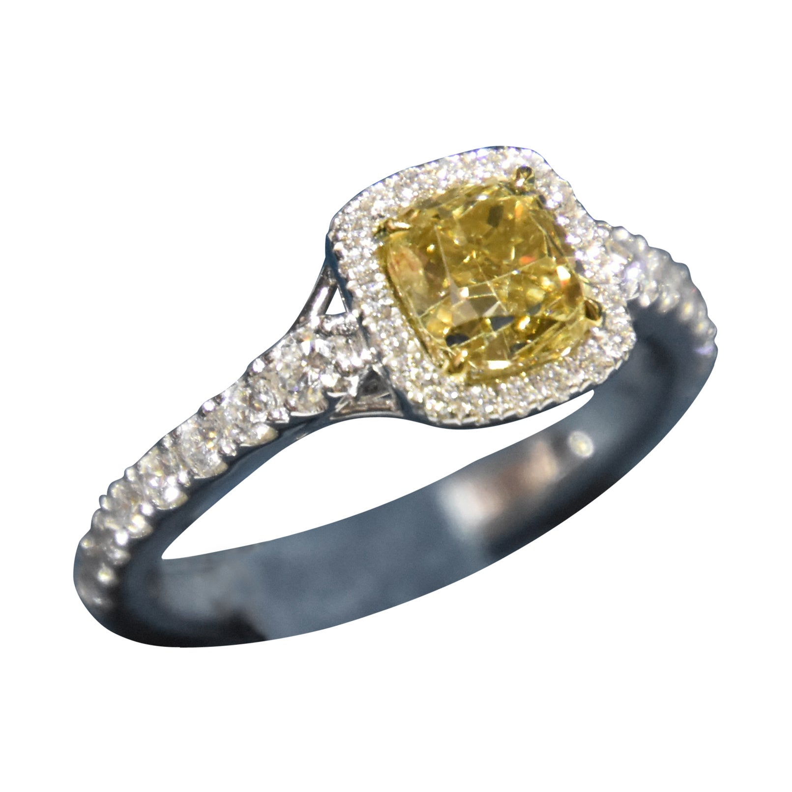 KAHN GIA Certified 1.58 Carat Fancy Brown Yellow Diamond Ring