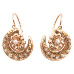 Antique Gold and Pearl Earrings