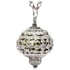 Antique 16th Century Diamond Embellished Pomander Sphere
