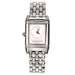 Jaeger-Le Coultre Reverso Steel Ladies Wristwatch Ref 266.8.44