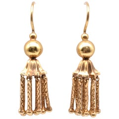 Victorian 18 Karat Gold Tassel Drop Earrings