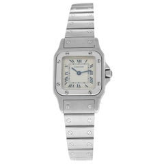 Unisex Cartier Santos Galbee 1565 Stainless Steel Quartz Watch