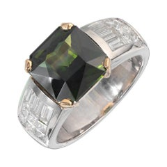 Peter Suchy GIA Certified 5.19 Carat Zircon Diamond Platinum Gold Ring