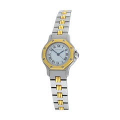 Ladies Cartier Santos Octagon Steel 18 Karat Yellow Gold Automatic Watch