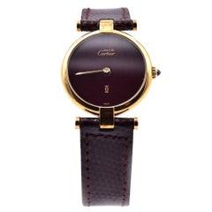 Vintage Must de Cartier Vermeil 925 Argent Plaque