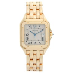 Cartier Panther 18 Karat Yellow Gold Men's Quartz Watch with Date W25014B9