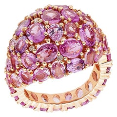 Ruchi New York Dome Pink Sapphire Cocktail Ring