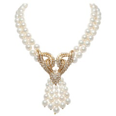 Pearl and Diamond Necklace\Pendant