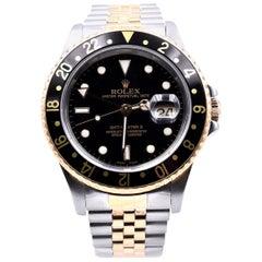 Rolex 18 Karat Yellow Gold and Stainless Steel GMT Master II Watch Ref. 16713