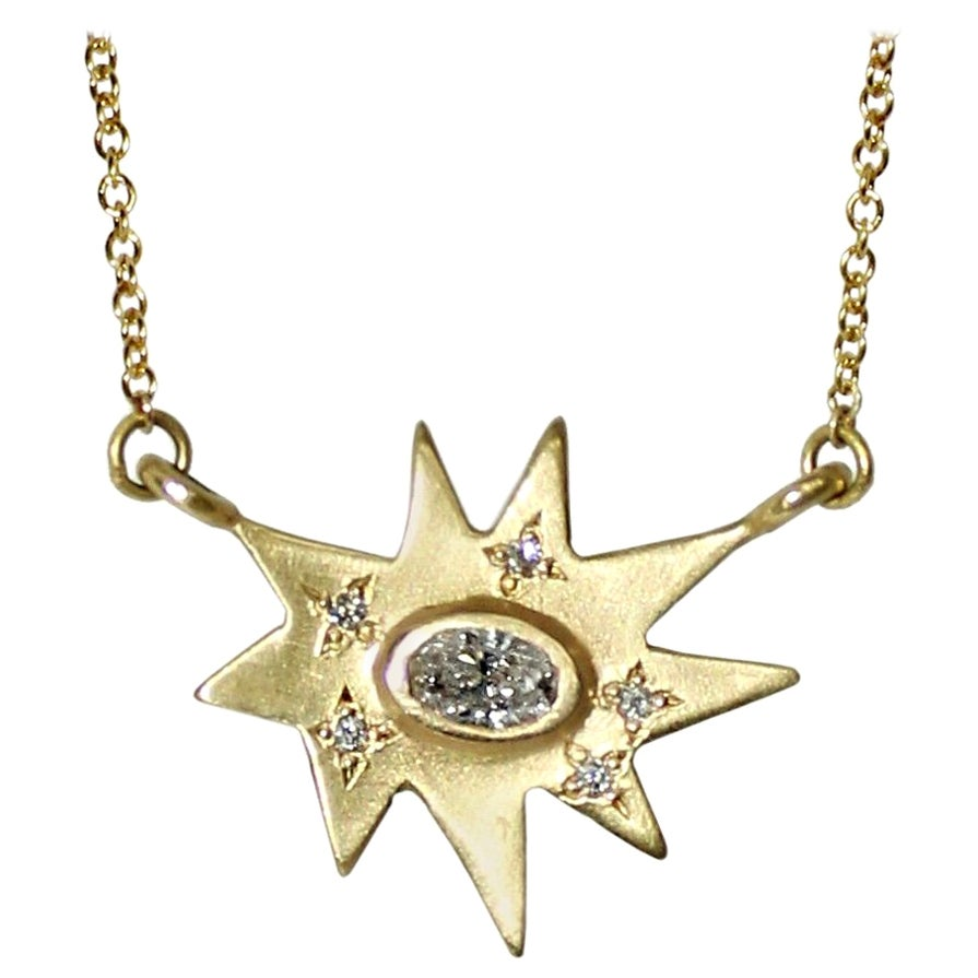 Emily Kuvin Stellina Gold and Diamond Necklace and Earring Set