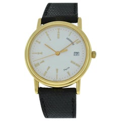 Unisex Hermes Paris 18 Karat Solid Yellow Gold Quartz Watch
