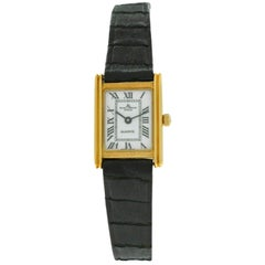 Ladies Baume & Mercier Lady 18505 18 Karat Solid Yellow Gold Quartz Watch