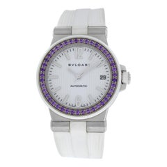 Ladies Bvlgari Diagono DG35S Steel Sapphire Automatic Date Watch