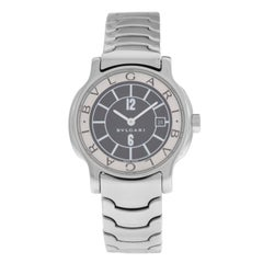 Ladies Bvlgari Solotempo ST29S Stainless Steel Date Quartz Watch