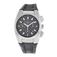 Unisex Bvlgari Ergon L6452 Steel Chrono Diamond Automatic Watch
