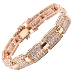 14 Karat Yellow Gold 4.50 Carat Diamond Bracelet