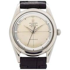 Vintage Universal Geneve Polerouter Stainless Steel Watch, 1957
