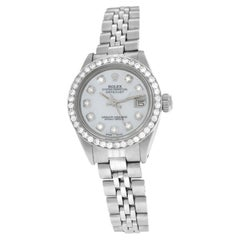 Ladies Rolex Oyster Perpetual Date 6917 Stainless Steel Diamond MOP 26MM Watch