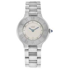 Ladies Cartier Must de Cartier 1340 Quartz Stainless Steel Watch