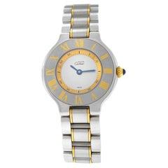 Ladies Cartier Must de Cartier 1340 Ref. W10073R6 Quartz Steel Gold Watch