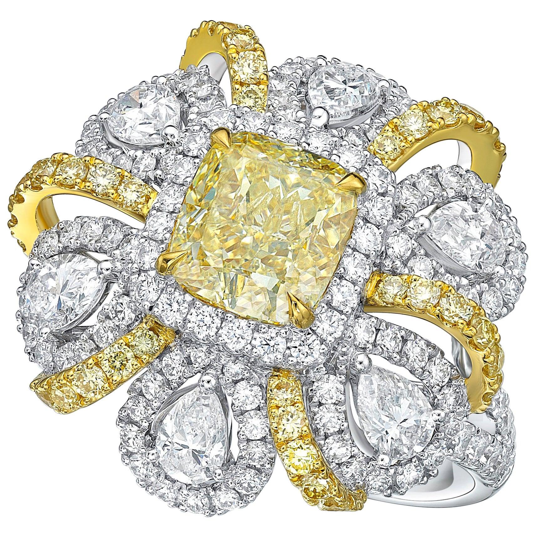 GIA Certified 2.13 Carat VS Quality U-V Diamond Ring