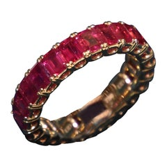 Eternity Ruby Ring in Rose/ Red Gold