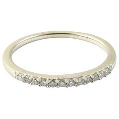 14 Karat White Gold Diamond Wedding Band Ring