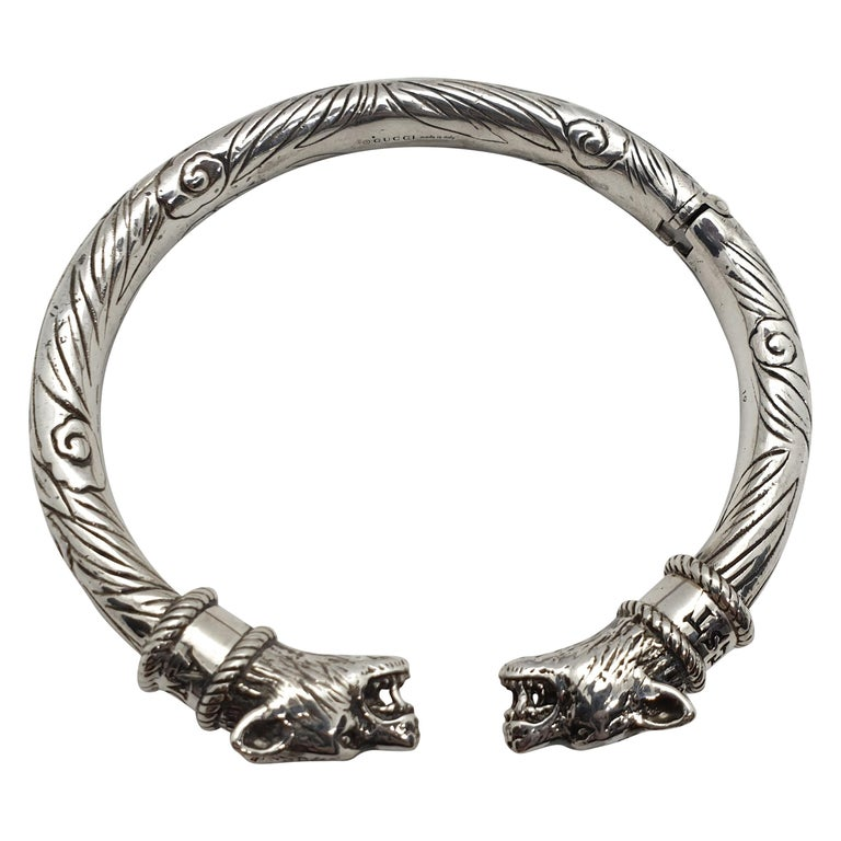 c1d337857 Gucci Anger Forest Sterling Silver Man Bracelet, 2010s For Sale at ...