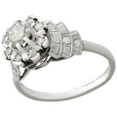 1950s and Contemporary 1.03 carat Diamond and Platinum Dress Ring