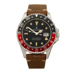 Rolex GMT Master II MKII Fat Lady Coke Stainless Steel 16760