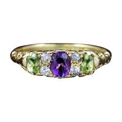 Antique Edwardian 18 Carat Yellow Gold Suffragette Ring, circa 1915