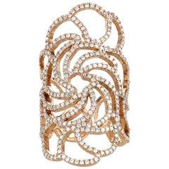 Ileana Makri - 18k rose gold and Pavé Diamond Lace Ring