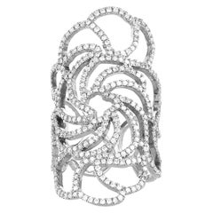 Ileana Makri - 18k white gold and Pavé Diamond Lace Ring