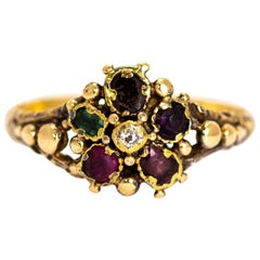 Early Victorian 15 Carat Gold Acrostic Regard Ring