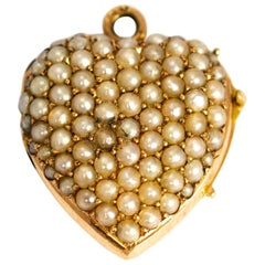 Victorian Pearl and 18 Carat Gold Locket