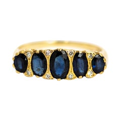 Vintage Sapphire and 9 Carat Gold Ring