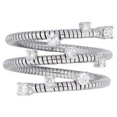Round Brilliant Diamond Flexible Ring