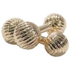 14 Karat Tiffany & Co. Cuff Links Yellow Gold