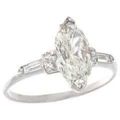 GIA 1.51 Carat Diamond Platinum Engagement Ring