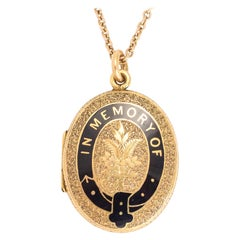 Antique Victorian in Memory of Oval Mourning Locket