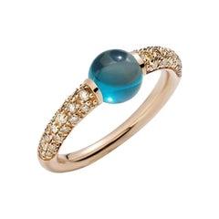 Pomellato Mama Non Mama Ring in Rose Gold with Blue London Topaz A.B213TBRO7OY