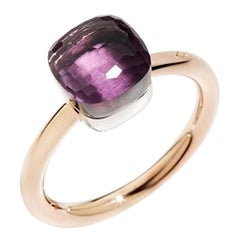 Pomellato Nudo Petit Ring in White and Rose Gold with Amethyst A.B403-O6-OI