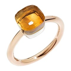 Pomellato Nudo Petit Ring in White and Rose Gold Citrine Quartz A.B403-O6-OV